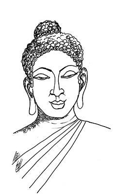 Painting - Buddha by Sarabjit Singh