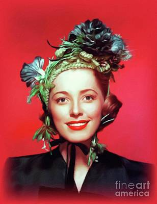 Royalty-Free and Rights-Managed Images - Eleanor Parker, Vintage Actress by John Springfield