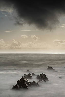 Palm Trees Rights Managed Images - Stunning fine art landscape image of view from Hartland Quay in  Royalty-Free Image by Matthew Gibson