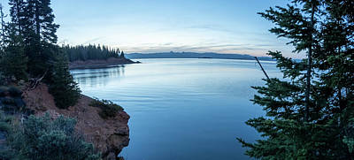 Winter Animals Rights Managed Images - Sunrise over yellowstone lake in yellowstone national park Royalty-Free Image by Alex Grichenko