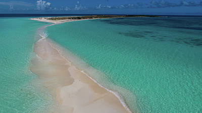 Photograph - Aerial view Los Roques Archipelago in the Caribbean Sea Venzuela by Organizacion Bluewater