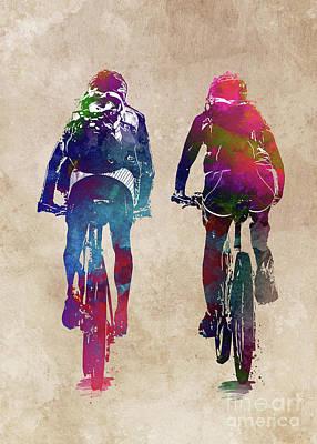 Digital Art - Cycling Bike sport art #cycling #sport by Justyna Jaszke JBJart