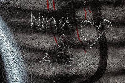 Sheep - Detail of Graffitied Wall by Robert Ullmann