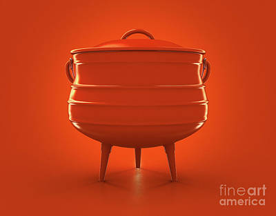 Kitchen Mark Rogan Rights Managed Images - South African Potjie Pot Royalty-Free Image by Allan Swart