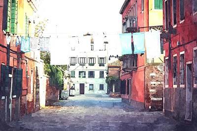 Thomas Kinkade Royalty Free Images - Old House Royalty-Free Image by GiannisXenos Watercolor ArtWork