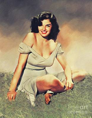 Royalty-Free and Rights-Managed Images - Jane Russell, Vintage Movie Star by Esoterica Art Agency