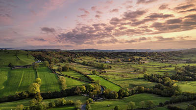 Advertising Archives - Stunning aerial drone landscape image of Peak District countrysi by Matthew Gibson
