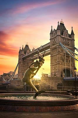 Lake Life - Sunset over Tower Bridge in London, UK by James Byard