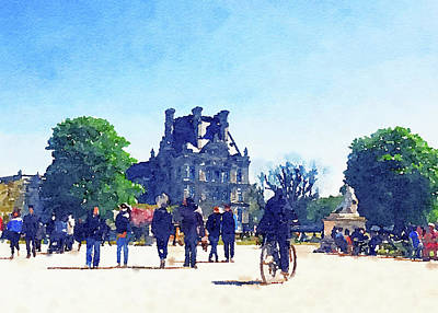 Claude Monet - Watercolour Art Print, Travel in Europe Scene by Anneleven Store