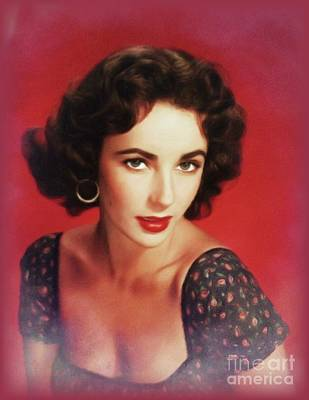 Royalty-Free and Rights-Managed Images - Elizabeth Taylor, Hollywood Legend by John Springfield
