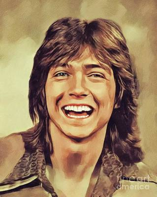Recently Sold - Music Paintings - David Cassidy, Hollywood Legend by John Springfield