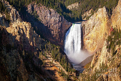Santas Reindeers Royalty Free Images - 1583 Lower Falls Grand Canyon of Yellowstone Royalty-Free Image by Steve Sturgill