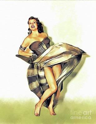 Beaches And Waves Rights Managed Images - Rita Hayworth, Vintage Movie Star Royalty-Free Image by John Springfield