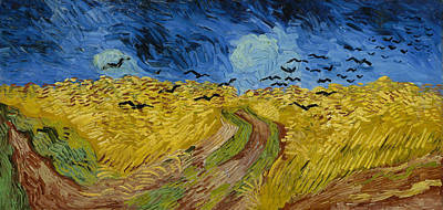 Animal Watercolors Juan Bosco - Wheatfield with Crows by Vincent van Gogh