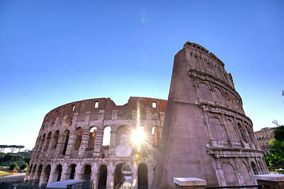 Thomas Kinkade Rights Managed Images - The Colosseum located in Rome, Italy. Royalty-Free Image by James Byard