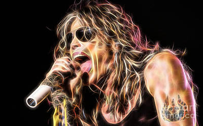 Music Mixed Media - Steven Tyler Collection by Marvin Blaine