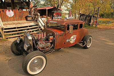 Fruits And Vegetables Still Life - 1920 Ford Rat Rod by Robert Tubesing