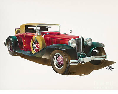 Painting - 1930 Cord L-29 Cabriolet by Tony W Morgan