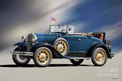 Giuseppe Cristiano Royalty Free Images - 1930 Ford Rumble Seat Roadster Royalty-Free Image by Dave Koontz