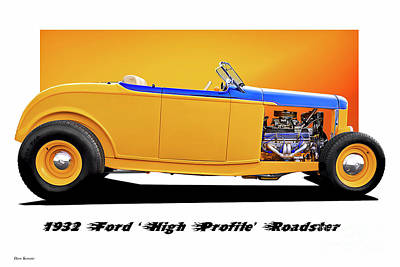 Claude Monet - 1932 Ford High Profile Roadster by Dave Koontz