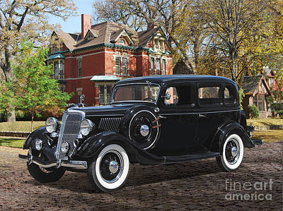 Queen Rights Managed Images - 1934 Fordor On Summit Royalty-Free Image by Ron Long