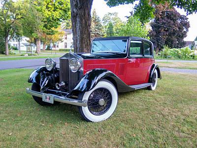 Vintage Movie Stars - 1935 Rolls Royce by Lou Cardinale