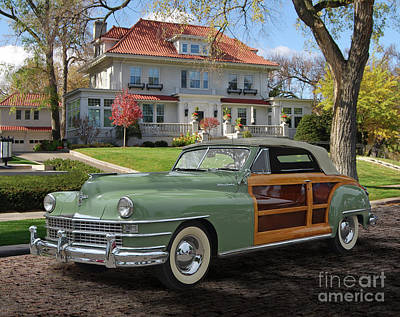 Whimsically Poetic Photographs - 1946-48 Chrysler Town and Country Convertible by Ron Long