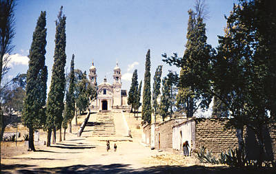 Whimsically Poetic Photographs Rights Managed Images - 1951 Church at Cholula Mexico Royalty-Free Image by Marilyn Hunt