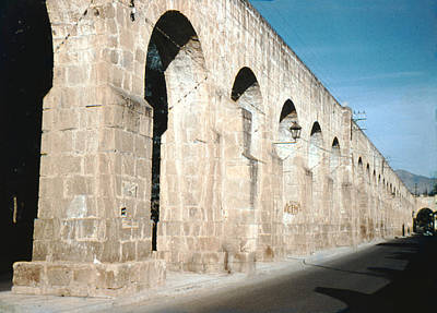 Gaugin Rights Managed Images - 1952 Aqueduct Morelia Mexico Royalty-Free Image by Marilyn Hunt