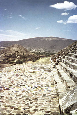 Whimsically Poetic Photographs Rights Managed Images - 1952 Pyramid Sun Teotihuaca Royalty-Free Image by Marilyn Hunt