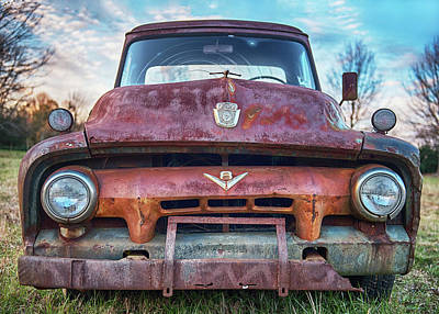 Firefighter Patents Royalty Free Images - 1954 Ford F100 Portrait Royalty-Free Image by Fon Denton