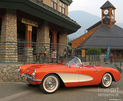 Impressionist Landscapes - 1956 C1 Chevrolet Corvette by PROMedias