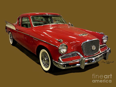 Outerspace Patenets - 1958 Studebaker Golden Hawk by Gary F Richards