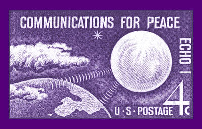 Royalty-Free and Rights-Managed Images - 1960 Echo I Stamp by Greg Joens