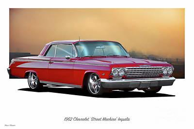 Door Locks And Handles - 1962 Chevrolet Street Machine Impala by Dave Koontz