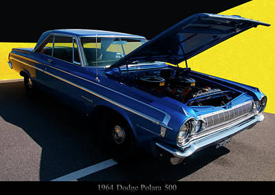 Comic Character Paintings - 1964 Dodge Polara 500 by Chris Flees