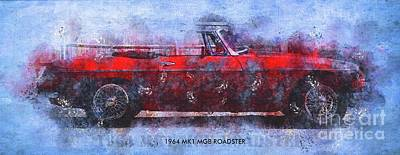 Drawings Royalty Free Images - 1964 MK1 MGB ROADSTER Poster,Classic Cars Posters for Classic Cars Fans Royalty-Free Image by Drawspots Illustrations