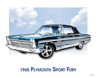 Recently Sold - Sports Royalty-Free and Rights-Managed Images - 1965 Plymouth sport fury by Greg Joens