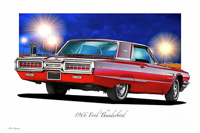 Basketball Patents - 1966 Ford Thunderbird Coupe by Dave Koontz