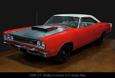Music Figurative Potraits - 1969 1/2 Dodge Coronet A12 Super Bee by Chris Flees