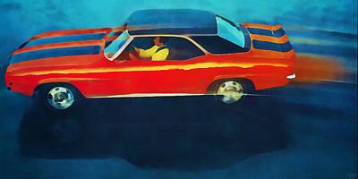 Mixed Media - 1969 Chevrolet Camaro Art by Pierce Anderson