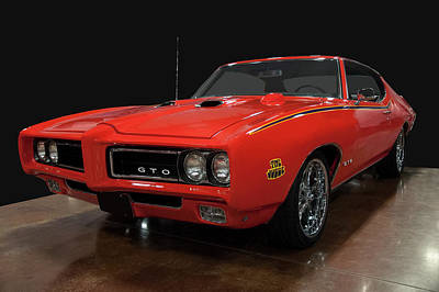Popstar And Musician Paintings Royalty Free Images - 1969 Pontiac GTO Judge Hardtop Royalty-Free Image by Christopher Flees