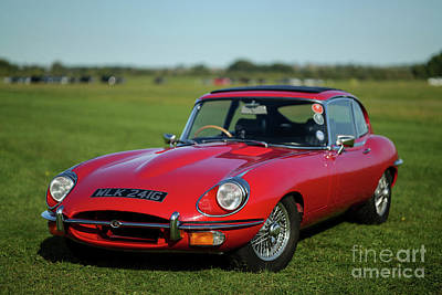 Sports Royalty-Free and Rights-Managed Images - 1969 Jaguar E Type by Edmond Terakopian