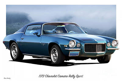 Sports Royalty-Free and Rights-Managed Images - 1972 Chevrolet Camaro RS by Dave Koontz