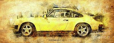 Drawings Royalty Free Images - 1979 PORSCHE 911 SC Poster,Classic Cars Posters for Classic Cars Fans Royalty-Free Image by Drawspots Illustrations