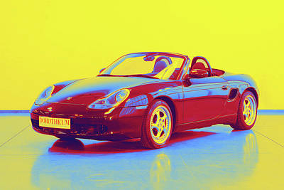 Bath Time Rights Managed Images - 1997 Porsche Boxster  - Neon Colored Royalty-Free Image by Celestial Images