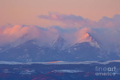 Steven Krull Royalty-Free and Rights-Managed Images - Alpenglow on the Sangre De Cristo by Steven Krull