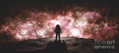 Winter Animals - Astronaut doing space walk. Mars exploration. by Michal Bednarek
