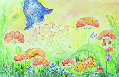 Painting - Bluebell's Song by Olga Verasen