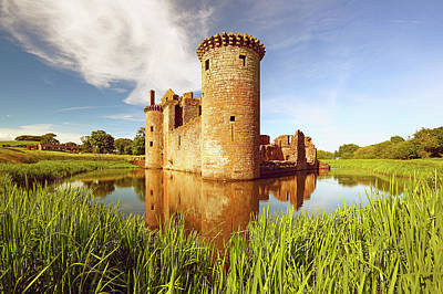 Fantasy Royalty-Free and Rights-Managed Images - Caerlaverock Castle by Grant Glendinning